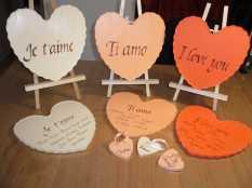 Commande pour un mariage, marque-places, noms de tables