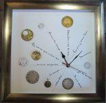 Horloge, Gothique cursive