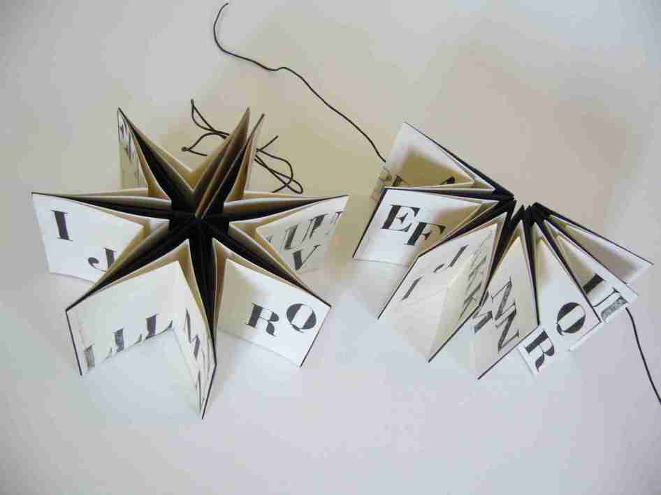 Livres étoile, impressions typo